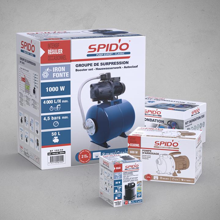Packaging gamme Spid'o de Dipra