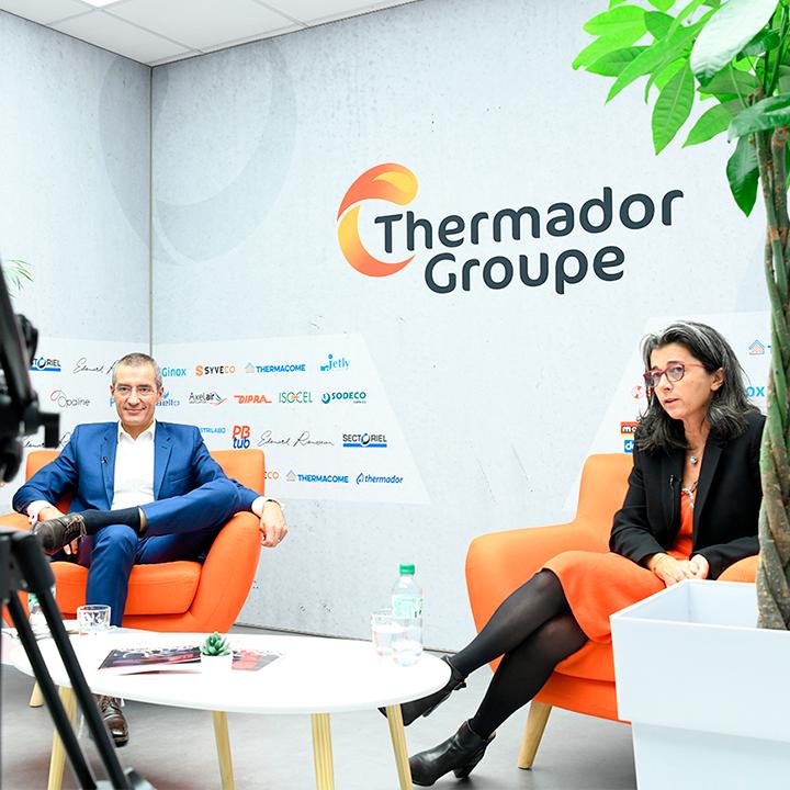 backstage du webinar Thermador Groupe dans le studio de l'agence Opaline